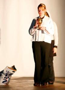 Katharina als Strohhalmverkäufer